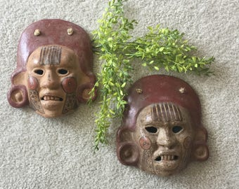 Vintage Pair of Mexican Masks