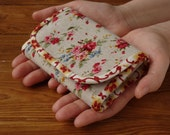 Floral linen wallet Small womens wallet Small cloth wallet Mothers Day gift for woman Cloth linen wallet Rose fabric wallet Floral wallet
