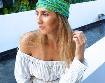 Boho Headband / Yoga Workout Headband / Fitness Headband / Running Headband / Boho Wide Headband / Womens Headbands / Hippie Headband