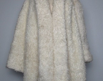 Fluffy Jacket Monterey Fashions Made in USA Vintage Coat