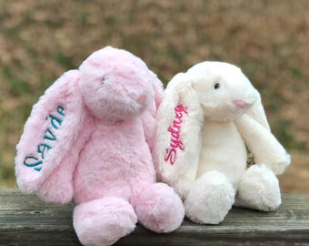 Baby first easter etsy personalized easter bunny plush easter bunny pink easter bunny easter gift kids negle