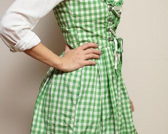 Dirndl Dress Green Alpen style Bavarian Austrian German Oktoberfest Folk National Costume Eur36/38
