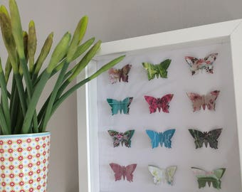 Framed 3D butterfly picture