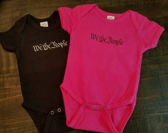 We The People Baby Onesie - We The People Onesie - Baby Shower Gifts We The People Bodysuit - We The People Creeper