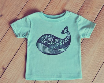Whale Tee, Toddler yoga shirt, Yoga baby outfit, Whale shirt, Bohemian boy or girl, hipster baby, Mantra Tee, Hippie Child, Vegan kids top