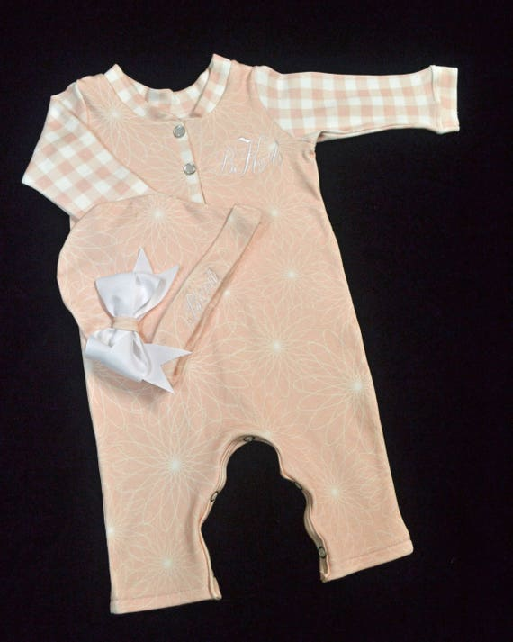 Personalized, Custom Made Baby Outfit, Upscale Baby Outfit, Designer Baby Clothes, Boutique Baby Outfit, Going Home Outfit Girl