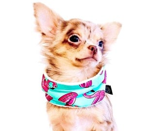 "Dog Snood Infinity Scarf / Snood Echarpe Tube pour Chien "" Flamants Roses Qui Flottent """