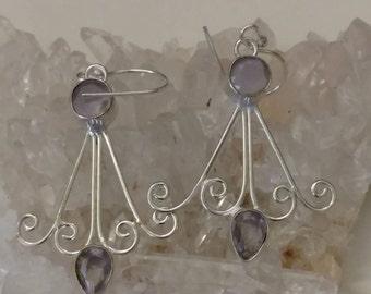 Rose Quartz Abstract Earrings