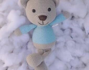 Amigurumi bear handmade crochet baby
