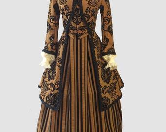 Renaissance Damask Brocade Lace Dress