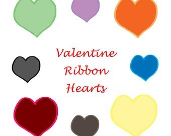 Valentine Ribbon Hearts