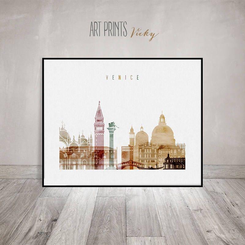Venice art print watercolor poster wall art venice for Ssf home designs