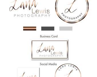 Photography Logo,  Logo, Logo design,  logo, Premade logo,  Branding kit, Copper Logo, Custom Logo, Watermark Logo, Stamp,