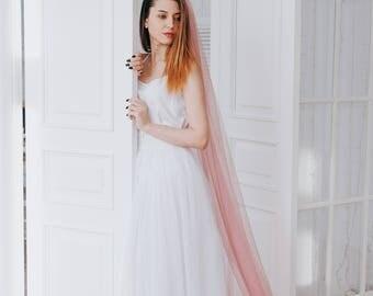 ROSE   Veil, pink veil, wedding veil, veil wedding, long veil, cathedral veil, bridal veil, colored veil