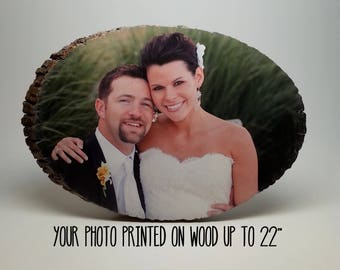5th Anniversary Gift, Wood Anniversary Gift, Personalized Wood Photo, Wedding Gift, Fifth Anniversary Gift, Engagement Gift, Important Dates