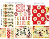 ECV-0144-TN Stickers - Floral Meets Alice! Boho/Shabby Chic/Vintage Kit - A4/A5/Personal/Pocket - Filofax, Happy Planner, Notebooks