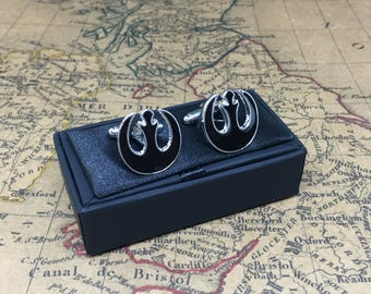 Star Wars Rebel Alliance Cufflinks Father Thank You Gift Gents Gift Cuff Links Perfect for Wedding Birthday Fathers Day Christmas StarWars