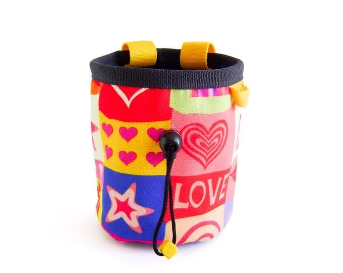 Gift For Climber, Rock Climbing Bag, Gymnastics Chalk Bag, Christmas Gift Climber, M Size