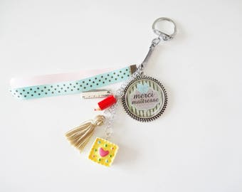 Keychain / bag charm for teacher