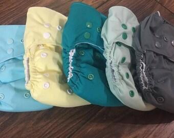 soft colors cloth diaper pocket 5 pack solid colors