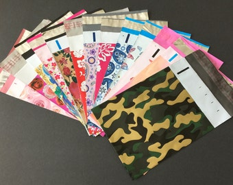 100 YOU CHOOSE 6x9 Designer Mailers Camo Make Up  Roses Butterflies Little Red Flowers Hibiscus Roses Paisley Shipping Bags Poly Mailers