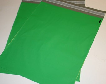50  14x17 Poly Mailers GREEN Self Sealing Envelopes Shipping Bags Spring Easter Christmas