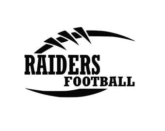 Raiders Football high school college SVG File Cutting, DXF, EPS design, cutting files for Silhouette Studio and Cricut Design space Sport