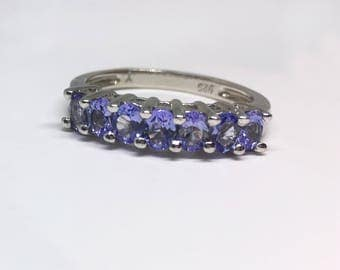 Sterling Silver Natural Tanzanite (1.05 ct) Ring, Appraised 645 USD