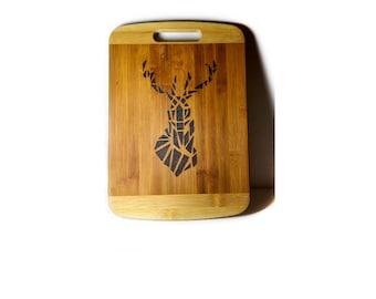 Deer Decor, Rustic Deer Decor, Deer Art, Cutting Board Decor, Farmhouse Rustic, Rustic Animals, Cabin Art, Pyrography Art, Deer Head Decor