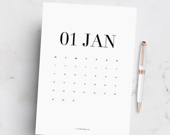 2018 Printable Calendar, Printable Wall Calendar, Office Accessories, Office Printable Calendar, 2018 Planner, Dated Calendar