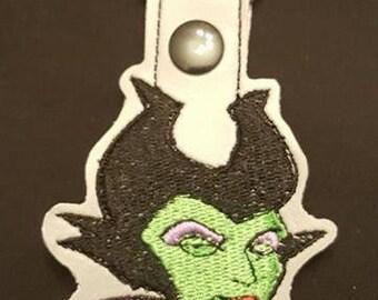 Maleficent keyfob key chain zipper pull bag tag Disney Villain Gift