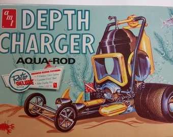 AMT depth charger aqua-rod 1/25 scale model kit