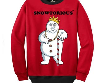 Snowtorious™   - Limited Edition - Ugly Christmas Sweater - Funny Christmas Sweater - Unisex - For Men and Women