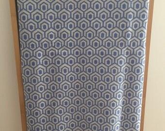 Fouta towel weaving hexagonal cotton beach towel gray and blue elegant / Tunisia, fouta towel Turkish bath beach cotton / lesptitskdo