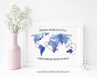 Friend long distance etsy best friend long distance print moving away gift graduation gift moving long distance negle Images