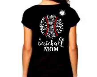 Baseball MOM, subway art  SVG DFX Cut file  Cricut explore file Baseball svg, Commercial license, Subway art svg,