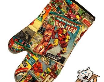 Marvel Comic Oven Mitt