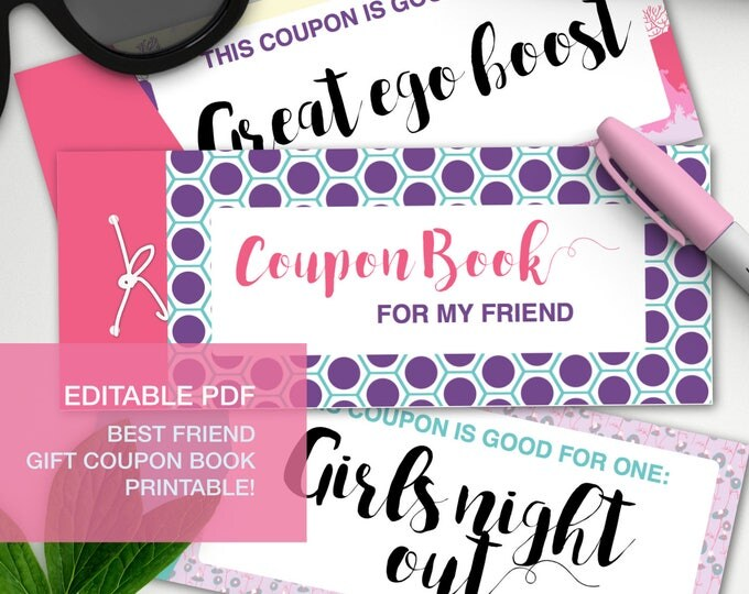 Featured listing image: Bestie gift coupon book