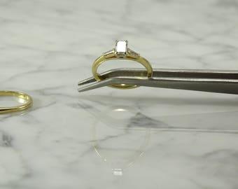 14K Yellow Gold Diamond Bridal / Wedding Ring Set (size 7)