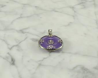 Sterling Silver / Lavender Jade Pendant