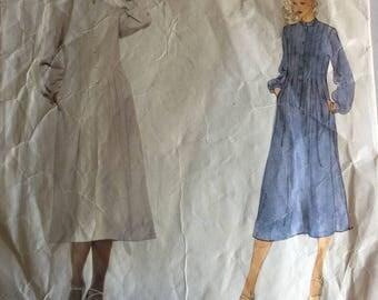 Vintage Vogue Paris Original 1950 Sewing Pattern, Givenchy, 1970's Dress Pattern, Size 14, Bust 36 (92cm)