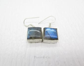 Blue Shine Labradorite Sterling Silver Earrings