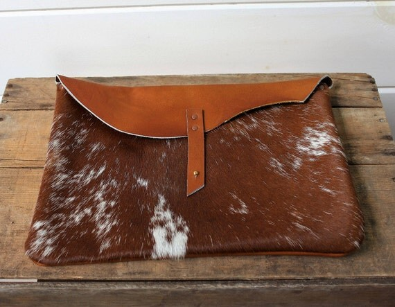 Cowhide + Leather Lap Top Sleeve