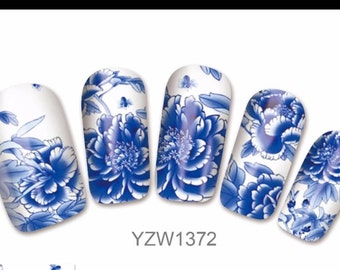 10pcs Blue nail stickers   I5