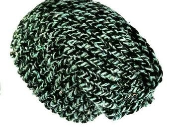 Slouchy knit hat slouchy beanie woman slouchy beanie man dreadlock tam recycled wool hat slouchy knit beanie hat dreadlock beanie
