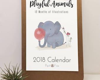 Animal calendar | Etsy