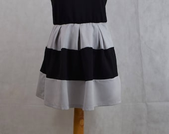 Vintage sleeveless Dress, vintage clothing, vintage, clothing, women's clothing, women's dresses, dresses for women, black and white, kawaii