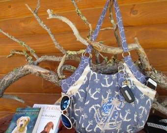 Nautical Quattro one of a kind handbag.  Can be a concealed carry bag