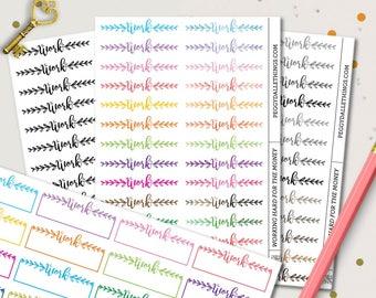 Work Word Planner Stickers | Header Planner Stickers | Watercolour Stickers | Work Functional Stickers