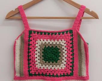 Crochet top, Granny Square